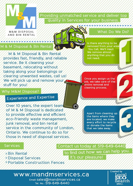 M&M Disposal & Bin Rental Infographic: Bin Rental & Waste Management Services in London ON